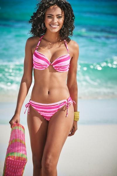 BUFFALO Bikini in pink / weiß, Modelansicht