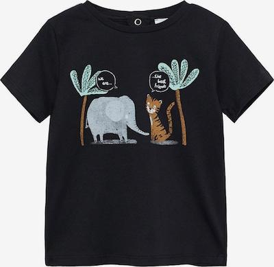 MANGO KIDS Shirt 'Friend' in opal / karamell / grau / schwarz / weiß, Produktansicht