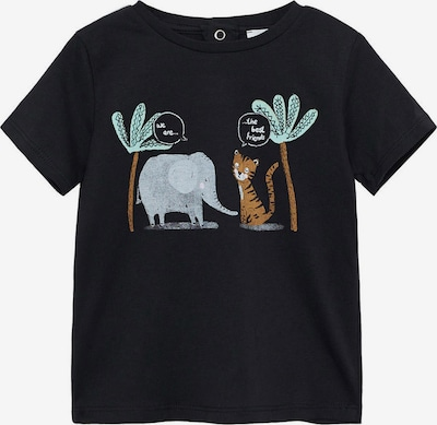 MANGO KIDS Shirt 'Friend' in de kleur Opaal / Karamel / Grijs / Zwart / Wit, Productweergave