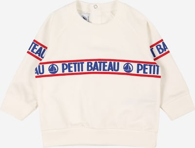 PETIT BATEAU Sweatshirt in blau / rot / wollweiß, Produktansicht