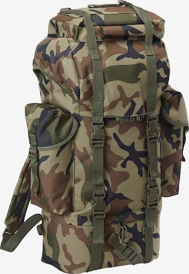 Brandit Rucksack in hellbraun / dunkelbraun / dunkelgrün / schwarz, Produktansicht