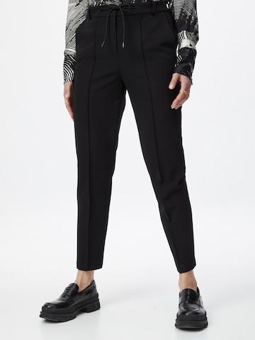 Pantaloni cu dungă de la Esprit Collection pe negru