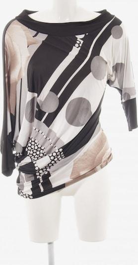 Risskio Schlupf-Bluse in M in hellgrau / schwarz / weiß, Produktansicht