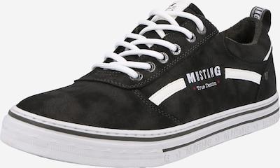 Sneaker low MUSTANG pe gri închis / alb, Vizualizare produs