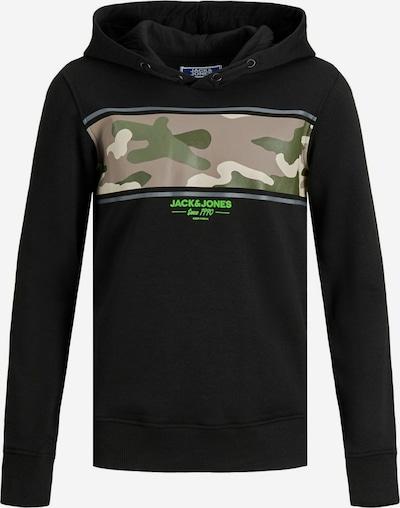 Bluză de molton 'Soldier' Jack & Jones Junior pe gri / kaki / oliv / verde neon / negru, Vizualizare produs