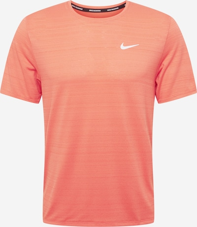 Tricou funcțional 'Miler' NIKE pe portocaliu / alb, Vizualizare produs