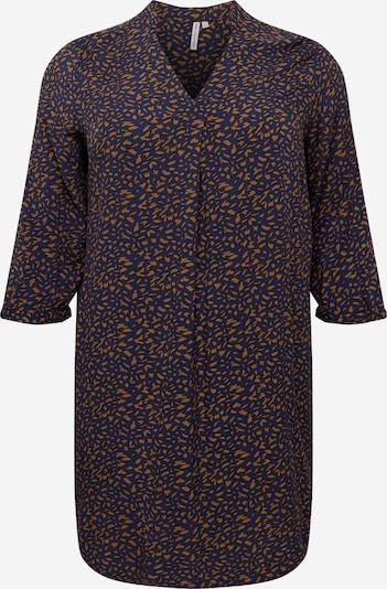 ONLY Carmakoma Košilové šaty - tmavě modrá / koňaková, Produkt