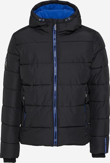 Superdry Jacke in blau / schwarz, Produktansicht