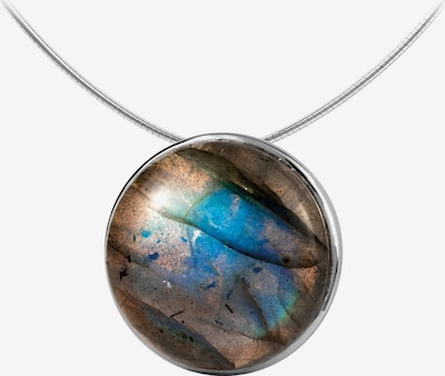 Jacques Lemans Kette in blau / türkis / bronze / lila / silber, Produktansicht