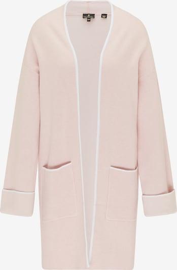 DreiMaster Klassik Gebreide mantel in de kleur Oudroze / Wit, Productweergave
