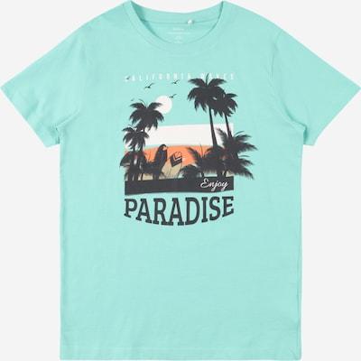 Guppy T-Shirt 'HARPER' en bleu clair / noisette / orange / noir / blanc, Vue avec produit