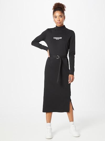 Calvin Klein Kleid 'New York' in schwarz / weiß, Modelansicht