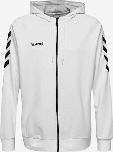 Hummel Sportsweatjacke in schwarz / weiß, Produktansicht