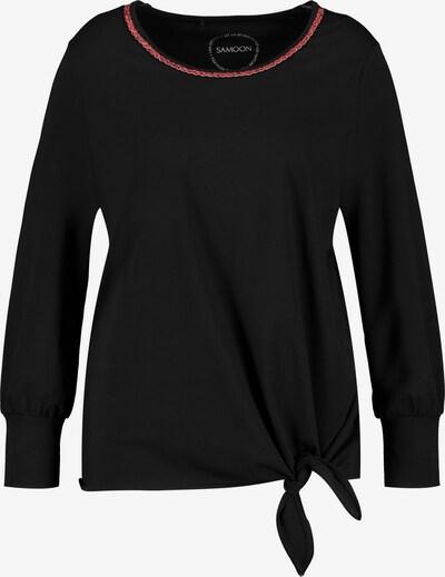 SAMOON Langarmshirt in schwarz, Produktansicht