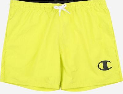 Champion Authentic Athletic Apparel Badeshorts in limone / schwarz, Produktansicht