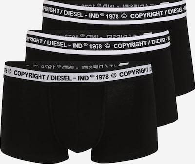 DIESEL Боксерки 'UMBX-DAMIEN' в черно / бяло: Изглед отпред