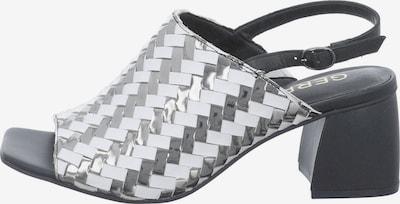 GERRY WEBER SHOES Sandale 'sabrina 05' in schwarz / silber / weiß, Produktansicht