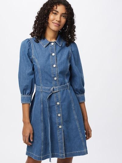 Global Funk Kleid 'Trix' in blue denim, Modelansicht