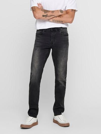 Only & Sons Jean 'Loom' en noir denim, Vue avec modèle