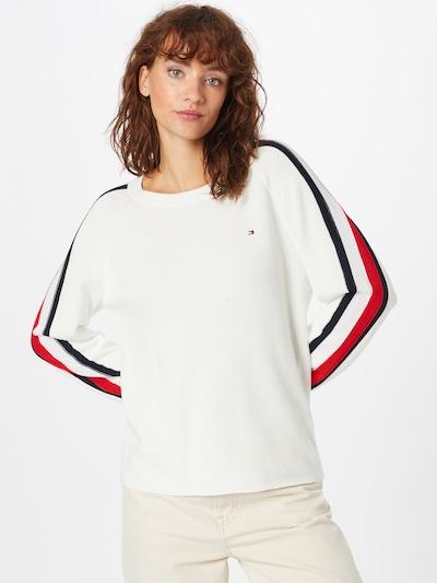 TOMMY HILFIGER Pullover in nachtblau / rot / weiß, Modelansicht