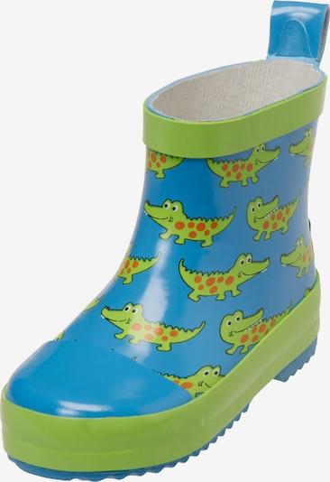 PLAYSHOES Гумени ботуши 'Krokodil' в синьо / зелено / червено, Преглед на продукта