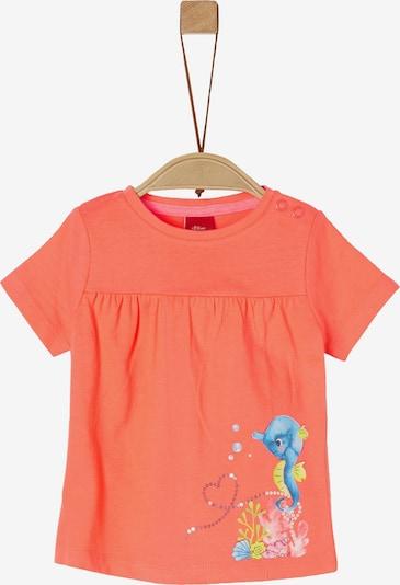 s.Oliver T-Shirt in mischfarben / pastellorange, Produktansicht