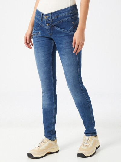 FREEMAN T. PORTER Jeans 'Coreena SDM' in blue denim, Modelansicht