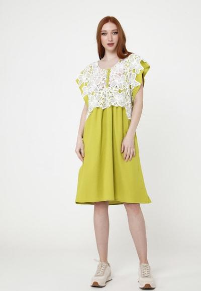 Madam-T Sommerkleid 'VEGNA' in gelb / weiß, Modelansicht
