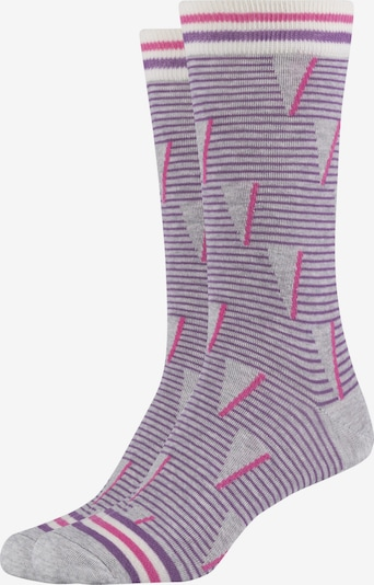 FUN Socks Crew Socks 'Lilac Graphic' in lila, Produktansicht