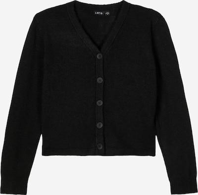 NAME IT V-Ausschnitt Strickjacke in schwarz, Produktansicht