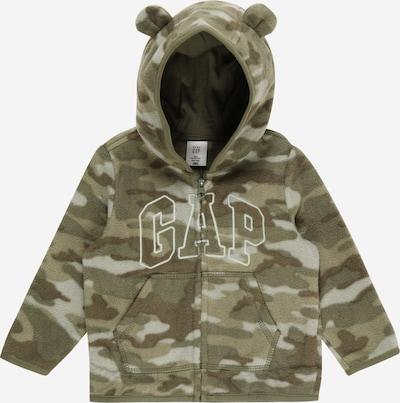 GAP Fleece Jacket in Khaki / Olive / White, Item view