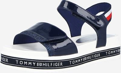 TOMMY HILFIGER Сандали 'VELCRO' в нейви синьо / огнено червено / бяло, Преглед на продукта