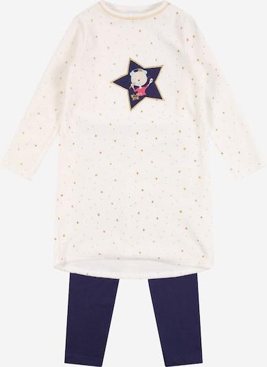 SCHIESSER Schlafanzug 'Cat Zoe' in dunkelblau / weiß, Produktansicht