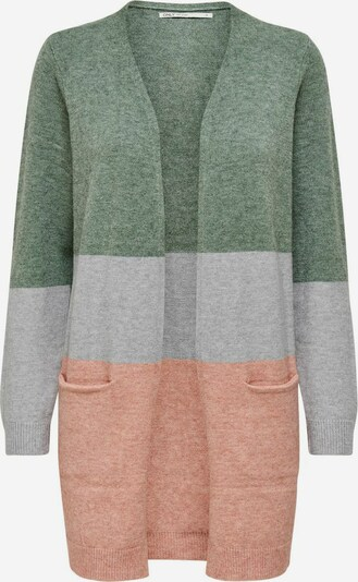 ONLY Cardigan in grau / grün / rosa, Produktansicht