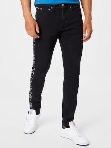 Calvin Klein Jeans Teksapüksid, värv must
