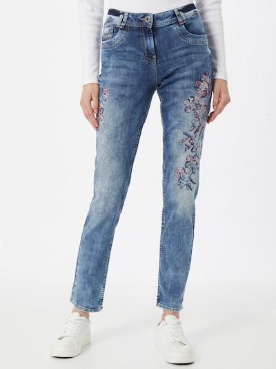 CECIL Jeans 'Scarlett' in de kleur Navy / Blauw denim / Rosa, Modelweergave