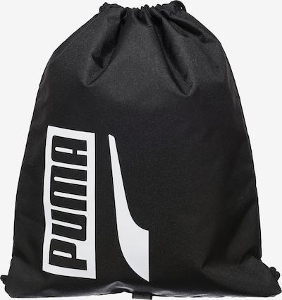 PUMA Turnbeutel 'Plus II' in schwarz / weiß, Produktansicht