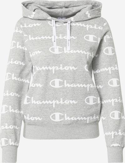 Champion Authentic Athletic Apparel Sweat-shirt en gris chiné / blanc, Vue avec produit