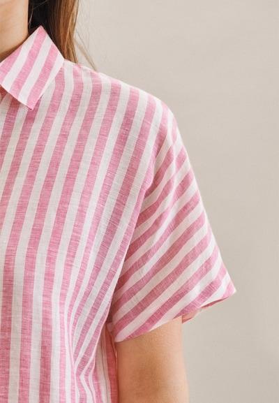 SEIDENSTICKER Hemdbluse ' Schwarze Rose ' in pink, Produktansicht