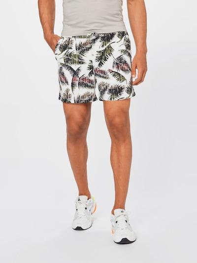 JACK & JONES Kalhoty 'JEFF' - khaki / lososová / černá / bílá, Model/ka
