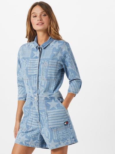 Tommy Jeans Overal - modrá / světlemodrá, Model/ka