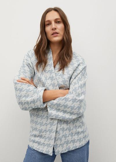 MANGO Jacke 'Kim' in pastellblau / weiß, Modelansicht