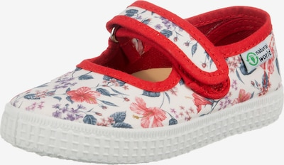 natural world Ballet Flats 'Ocean Isle' in Dusty blue / Fire red / White, Item view