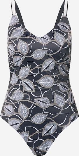 OVS Badeanzug in goldgelb / schwarz / weiß, Produktansicht