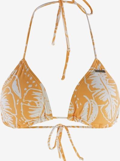 TOM TAILOR Triangel-Bikini-Top 'Nelana' in gelb / weiß, Produktansicht