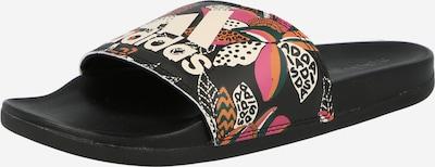 ADIDAS PERFORMANCE Zapatos para playa y agua 'Adilette' en verde oscuro / pitaya / talco / negro, Vista del producto
