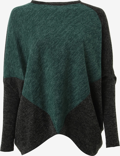Madam-T Bluse 'EMMANA' in grün / dunkelgrün / schwarz, Produktansicht