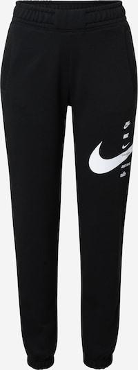 Nike Sportswear Pantalon de sport en noir / blanc, Vue avec produit