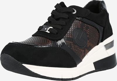 TOM TAILOR Sneakers in Brown / Black, Item view