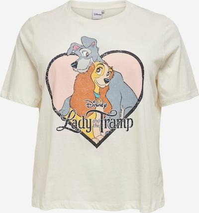 ONLY Carmakoma Camiseta en azul ahumado / amarillo claro / antracita / naranja oscuro / blanco, Vista del producto
